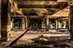 Alte zerstörte Fabrik Stockfotos