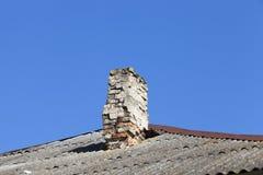 Alte Ziegelstein-Kamine Lizenzfreies Stockfoto