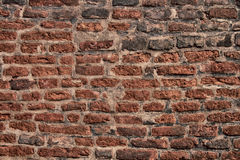alte Ziegelsteinbeschaffenheit der Wand Stockfoto