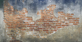 Alte Ziegelsteinblockwand Lizenzfreie Stockfotografie