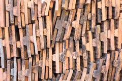 Alte Ziegelsteindachplatten Lizenzfreie Stockbilder