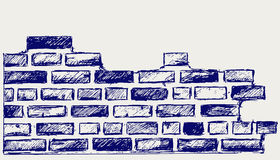 Alte Ziegelsteine Stockbild
