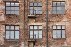 Alte Ziegelsteinfassade Lizenzfreies Stockbild