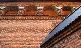 Alte Ziegelsteingalerie Stockfotos