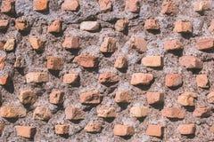 Alte Ziegelsteinsteinwandbeschaffenheit lizenzfreie stockfotografie