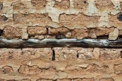 Alte Ziegelsteinwand Stockfotografie