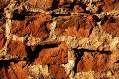 Alte Ziegelsteinwandnahaufnahme lizenzfreies stockfoto