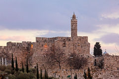 Alte Zitadelle innerhalb der alten Stadt, Jerusalem Lizenzfreies Stockfoto