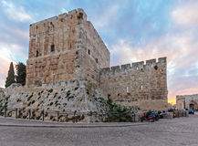 Alte Zitadelle innerhalb der alten Stadt, Jerusalem Stockfotos