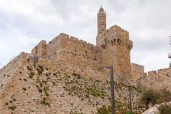 Alte Zitadelle innerhalb der alten Stadt, Jerusalem Lizenzfreie Stockfotos