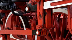Alte Zugräder Stockbilder