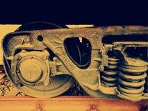 Alte Zugschienen lizenzfreies stockbild
