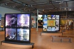 Alte zuverlässige Besucher-Mitte an Yellowstone Nationalpark in Wyoming Lizenzfreie Stockfotografie