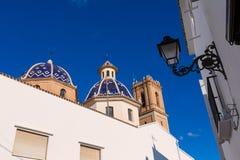 Altea παλαιά χαρακτηριστική Μεσόγειος του χωριού εκκλησιών Στοκ φωτογραφίες με δικαίωμα ελεύθερης χρήσης