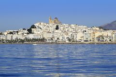 Altea Alicante province Spain view from blue sea Stock Photos