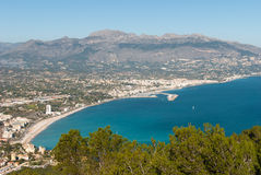 Altea bay. Costa Blanca, Spain, as seen from the pine forested Sierra Helada Royalty Free Stock Photos