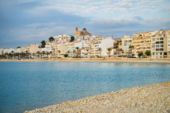 Altea bay. Sunny early morning on Spanish  Mediterranean resort town of Altea, Costa Blanca Royalty Free Stock Photography