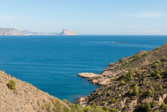Altea bay towards Calpe Royalty Free Stock Photography
