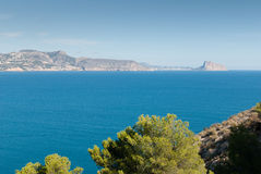 Altea bay towards Calpe. Altea bay with Calpe resort in the background Royalty Free Stock Photography