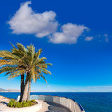 Altea beach balconade typical white  village Royalty Free Stock Image