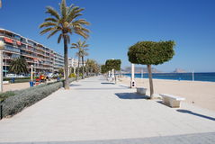 Altea Beach boulevard Royalty Free Stock Images