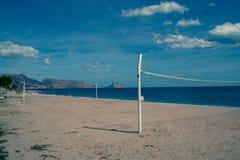 Altea beach faded Stock Photo