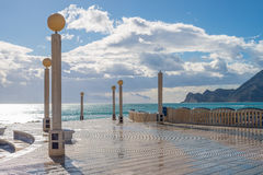 Altea beach promenade Stock Photography