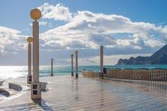 Altea beach promenade Stock Photography