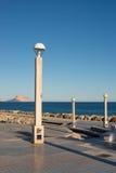 Altea beach promenade Stock Images