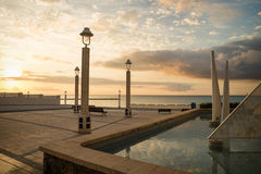 Altea beach promenade Royalty Free Stock Images