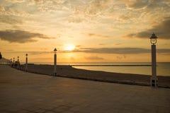 Altea beach promenade Royalty Free Stock Photos