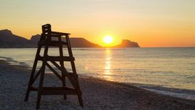 Altea beach sunrise stock video footage
