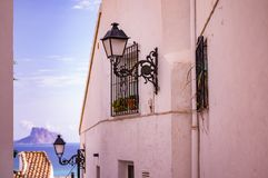 Altea. City of Altea in White Coast Royalty Free Stock Images
