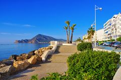 Altea coast on Costa Blanca royalty free stock photography