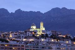 Altea at dusk, Spain Stock Image