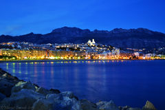 Altea, between ground and sea. Sunet at Altea, Alicante (Spain Stock Image