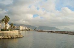 Altea-Küstenlinie, Costa Blanca Stockbild
