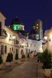 Altea na noite, Spain imagem de stock