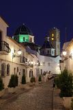 Altea at night, Spain. Old town of Altea at night, Spain Stock Image