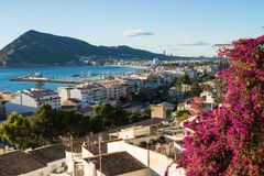 Altea old town. Altea bay as seen form its hilltop old town Stock Images