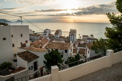 Altea old town royalty free stock photo