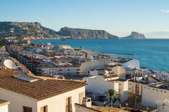 Altea old town. Altea bay as seen form its hilltop old town Royalty Free Stock Photos