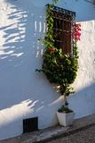 Altea old town. Facade of a traditional old town house in Altea, Costa Blanca,  Spain Royalty Free Stock Image