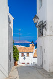 Altea old town narrow street Stock Photography