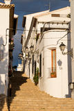 Altea old town street. Charming narrow old town street in Altea, Costa Blanca, Spain Stock Photo