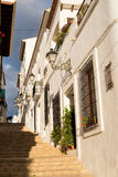 Altea old town street. Charming narrow old town street in Altea, Costa Blanca, Spain Stock Image
