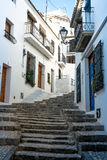 Altea old town street Stock Photo