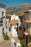 Altea old town street Royalty Free Stock Photos