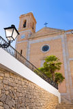 Altea old village Church Mediterranean at Alicante Stock Photos