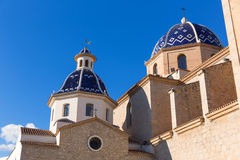 Altea old village Church typical Mediterranean Royalty Free Stock Photography